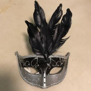 Sparkly feather mask